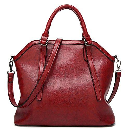 Big Top Vintage à PU En à Casual Main Sacs Fourre Dames Doux Shell Bandoulière poignée tout D'épaule Bag Femmes Sac Bags Red Cuir P4qTf