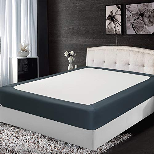 Twin Six Fashion Bed Box Spring Cover with Plush Premium Elastic Mattress Cover Queen\King (King, Gray)