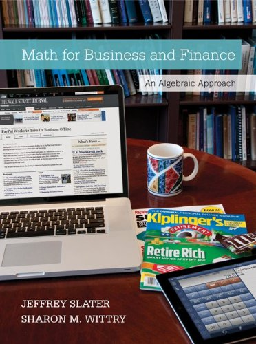 Loose Leaf Math for Business and Finance with Connect Access Card