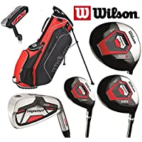 Wilson Prostaff Steel Shafted Irons HDX Complete 11 Peice Golf Club Set & Ionix Stand Bag New For 2017 Mens Right Hand