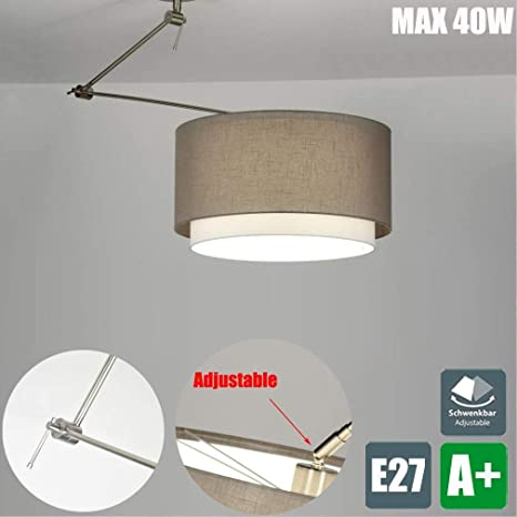 Plástico Lámpara Pantalla lámpara colgante E27 – Lámpara de ...