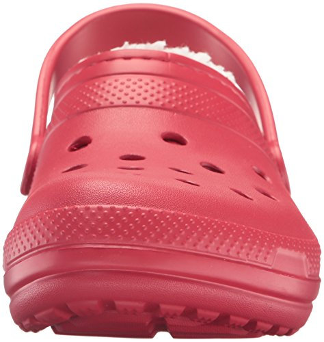 Crocs Classic Lined Clog, Zuecos Unisex Adulto Rosso (Pepper/Oatmeal)