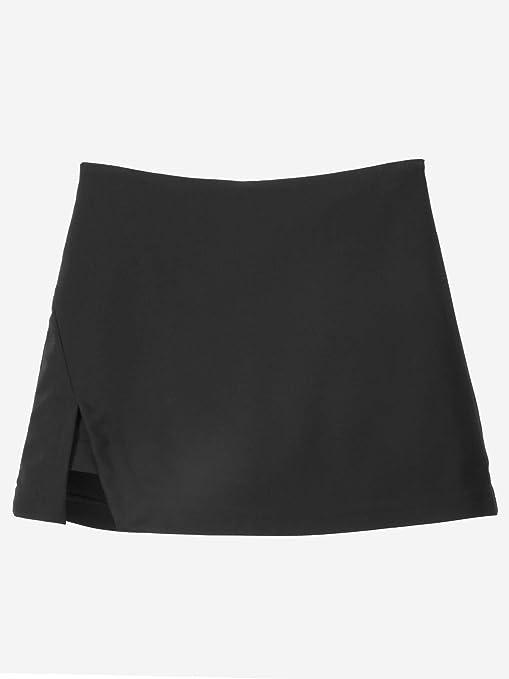 FSDFASS Falda Mujeres Mini Una línea Falda Algodón Lateral Dividir Sólido Pantalón Falda Casual Chicas Simples Faldas Cortas Streetwear: Amazon.es: Deportes y aire libre