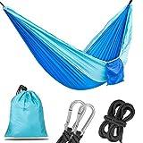 Korotus Portable Parachute Hammock for Backpacking, Camping, Hiking, Travel, Beach, Yard - Ultra Lightweight Nylon