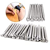 26 Pcs Different Shape Leather Stamping Tools Set Saddle Making Tools Carving Punch Tools for Leather Craft