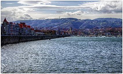 España casas Costa mar agua Getxo ciudades sitios de viajes postal Post tarjeta: Amazon.es: Oficina y papelería
