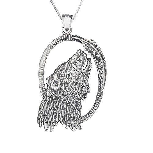 Pendant Head Bear (Sterling Silver Bear Head Pendant, Made in USA, 18