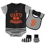 Majestic SF Giants Baby Pennant Bodysuit, Bib and Bootie Set