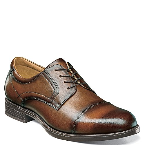 - Florsheim Men's Midtown Cap Toe Oxford,Cognac Smooth Leather,US 12 D