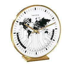 Hermle Buffalo I Brass Casing World Time Tabletop Clock