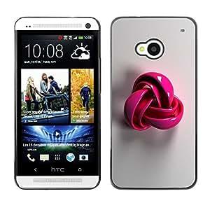 Estuche Cubierta Shell Smartphone estuche protector duro para el teléfono móvil Caso HTC One M7 / CECELL Phone case / / pink plastic grey pattern symbol wool /