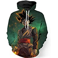 PIZZ ANNU Neutral Long Sleeve 3D Printed Cartoon Dragon Ball Series Pullover Hooded Sweater Coat