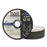"25 Pack Black Hawk 5"" x .040 x 7/8"" Arbor Metal & Stainless Steel Cut Off Wheels - Ultra Thin Discs"