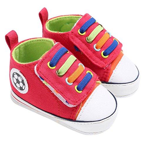 Ouneed® Krabbel schuhe , Herbst Winter Baby Boy Girl Neugeborene Crib Soft Sole Schuh Sneakers Rot