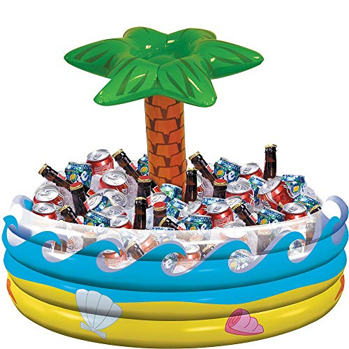 "amscan Palm Tree Oasis Inflatable Party Cooler, 14"" x 29.5"" from amscan"
