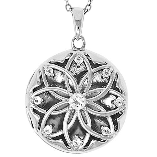 Heirloom Locket - With You Lockets-Fine Sterling Silver-Custom Photo Locket Necklace-That Holds Pictures for Women-The Helen