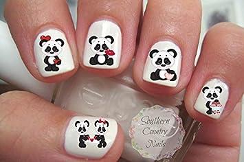 Amazon Valentine Xoxo Panda Nail Art Decals Beauty