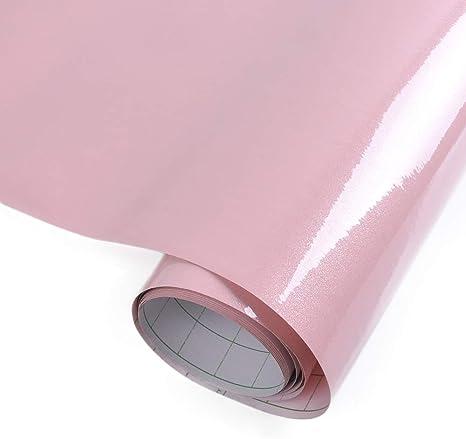 Amazon Com Yazi Gloss Self Adhesive Vinyl Kitchen Cupboard Door Cover Drawer Wardrobe Paper 24x98 Inch Pink Home Kitchen