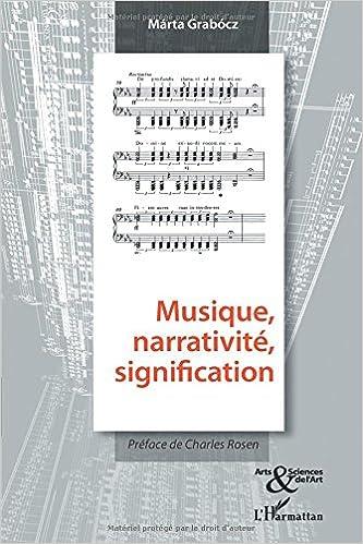 Musique, narrativité, signification epub, pdf
