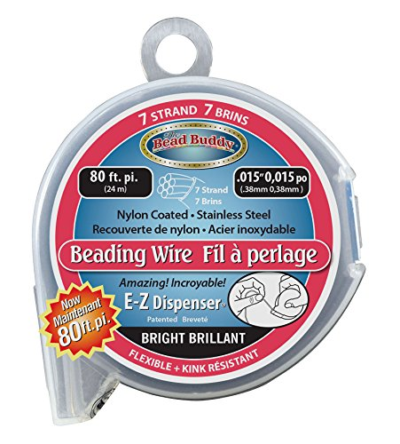 Bead Buddy 7 Strand Bead Stringing Wire-80 Feet And .015 Inches ()