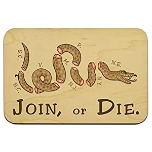 Join Or Die Benjamin Franklin Snake 229cm X 152cm 9 X 6 Wood