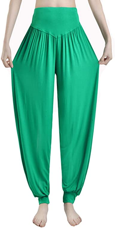 Amazon Com Kylin Express Pantalones De Yoga Para Mujer Supersuaves Modales De Licra Color Verde Clothing