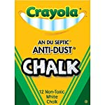 Nontoxic Anti-Dust Chalk, White, 12 Sticks/Box (50-1402), Pack of 10