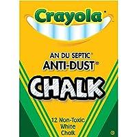Nontoxic Anti-Dust Chalk, White, 12 Sticks/Box (50-1402), Pack of 100