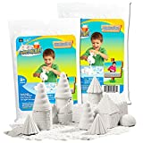 Sands Alive Kinetic Sand Starter Kit -- 1.5 Lbs of No Mess Sand for Kids Toddlers (Natural)