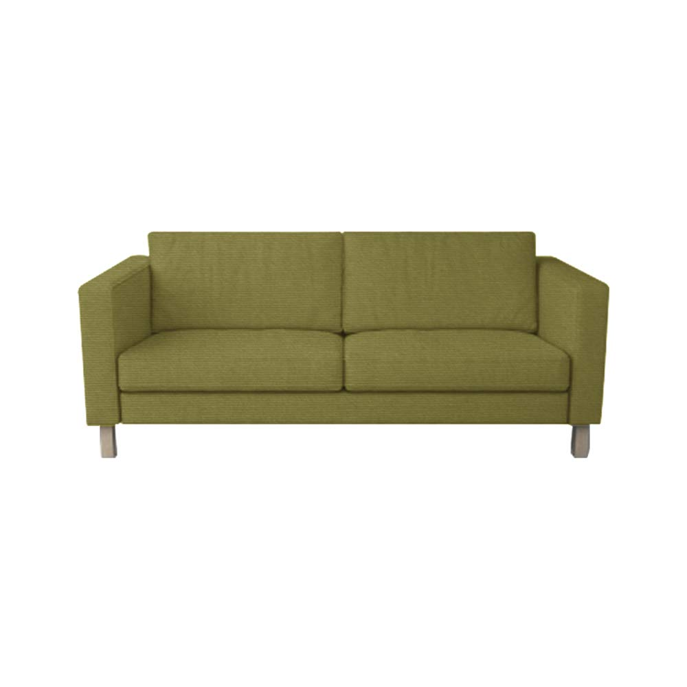 TLYESD MastersofCovers 5 Colors Cotton Karlstad 3 Seat Sofa Cover for The IKEA Karlstad 3 Seater Sofa Slipcover Replacement-Green