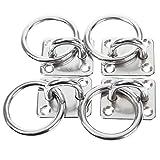 4 X Marine Grade 316 Stainless Steel Eye Plate Boat Ring Decking Rope Ring 5mm