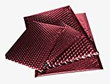 Padded Bubble Mailers - Self Seal Open End Envelope, CD Size (7'' x 6 3/4'') - Metallic Red - 250 Envelopes per Pack