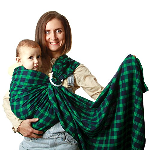 a2d8dcc2415 KiddyRay Baby Ring Sling Carrier Wrap for Infants   Toddlers – Extra ...