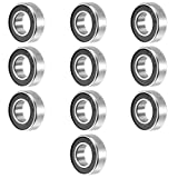 uxcell 10pcs 688RS 8mmx16mmx5mm Double Sealed Miniature Deep Groove Ball Bearing