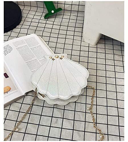 e pelle Saoga femminile Borsa donna per a tracolla di morbida morbida con a catena in tracolla giapponese bianca moda borsa con Lolita gROzq