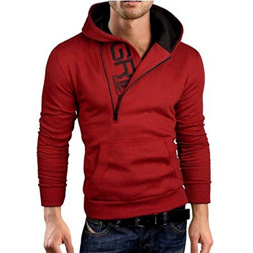 Capucha la Grandes con Chaqueta tamaños 2 más Hombre Compre rojo OverDose Abrigo Sudadera T 4PqxIXSw