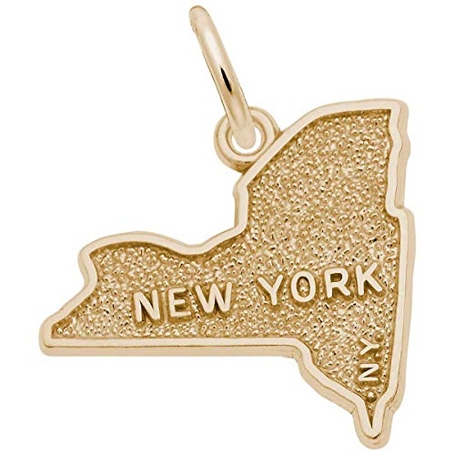 Rembrandt Charms New York Charm, Gold Plated Silver
