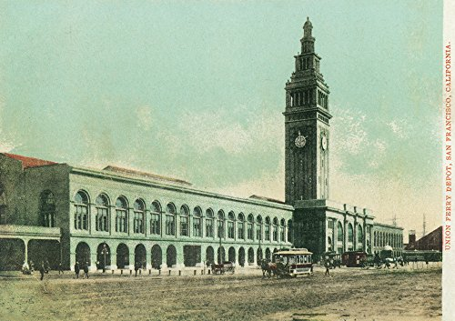 San Francisco, California - Exterior View of Union Ferry Depot (24x36 SIGNED Print Master Giclee Print w/Certificate of Authenticity - Wall Decor Travel - Union Ferry Depot