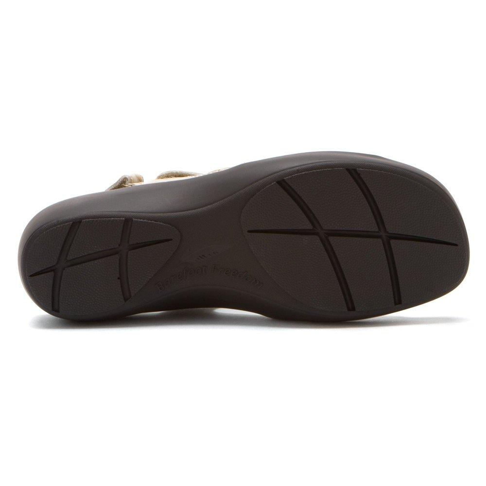 Barefoot Freedom by Drew Abby Women Open Toe Leather Ivory Sandals B00IZ9T2A2 7 B(M) US|Bone Croc