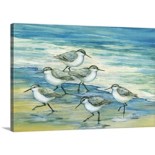 Surfside Sandpipers Canvas Wall Art Print, 48
