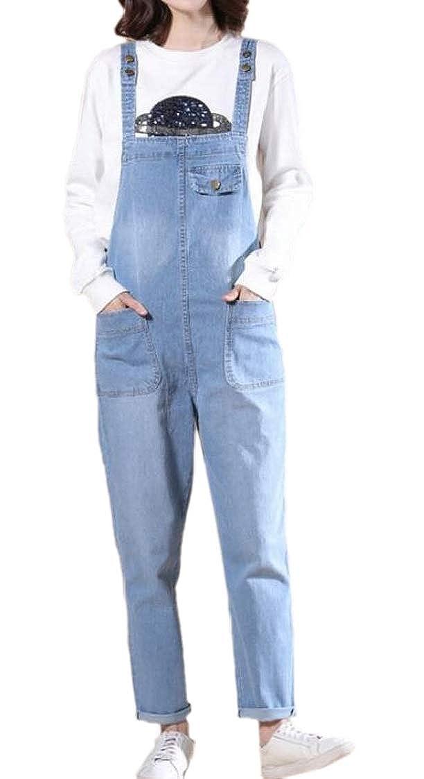 M/&S/&W Womens Casual Baggy Denim Bib Harem Overalls Romper Jumpsuit Pants