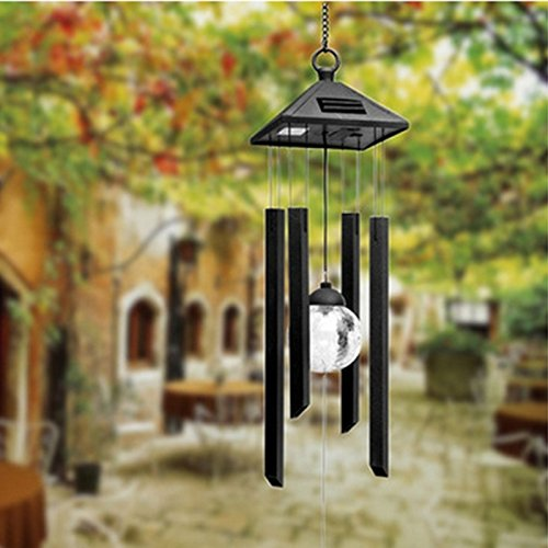 Zehui Solar Powered Color changing Light Wind Chimes Rotating Light LED Lamp For Garden by Zehui