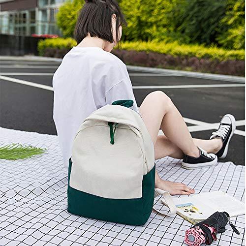 Borsa Viaggio Femminile Borsa Zaino Stampa Vento Femminile Zaino Femminile Tela Studente Green Impermeabile Nazionale Green xPxzFvw