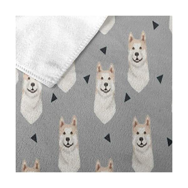 NiYoung Akita Dog Triangles Pattern Bath Towels for Bathroom Hotel Spa Kitchen Set 100% Polyester Fiber Highly Absorbent Hotel Quality Towels 2