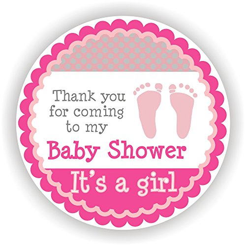 Philly art s a girl stickers favor stickers baby shower favor stickers baby footprint stickers set of 40