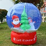Inflatable Christmas Snowflake Blowing Snowman Christmas Decoration with Blower for Christmas Decoration / Party / Event and Promotion (220V)