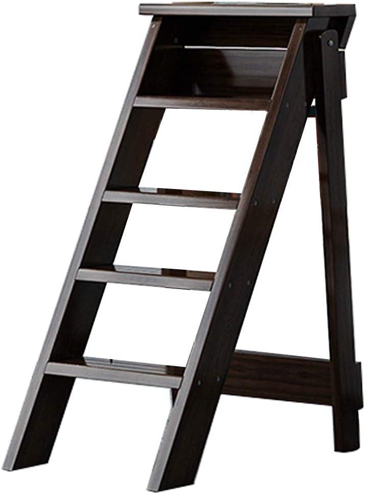 Taburete 5 peldaños Escalera Plegable | Silla de Escalera portátil Taburete de Escalera multifunción para Herramientas de jardín domésticas y de Oficina, niños o Adultos, Carga máxima 180 kg: Amazon.es: Hogar