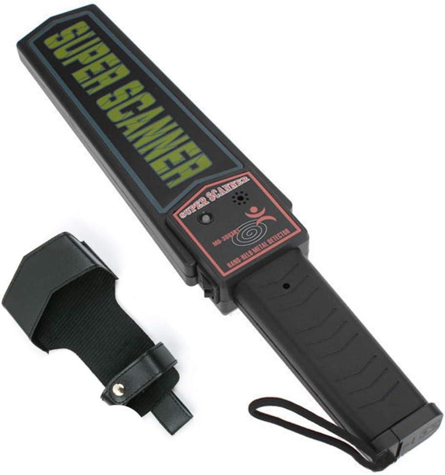 Escáner De Seguridad Con Detector De Metales Con Funda De Cinturón, Detector De Metales De Mano, Alarmas De Vibración De Sonido, Indicación LED, Herramienta De Escaneo De Varillas(41 × 8.4 × 4.3 Cm)