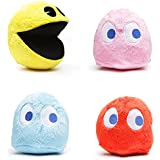 "Pac-Man 6"" Plush Set of 4 with Sound"