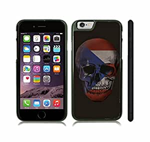 iPhone 6 Case with Puerto Rico Flag on a Skull Design , Snap-on Cover, Hard Carrying Case (Black)